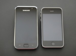 Samsung Galaxy en iPhone 3GS